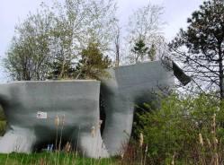 Geri dönüştürülmüş plastik malzemeler, Elevated Wetlands, Toronto, Tasarımcı: Noel Harding Studio