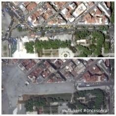Taksim'de betonlaşma