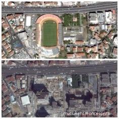 Ali Sami Yen Stadı ve Tekel Likör Fabrikası artık yok