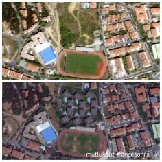 Önce komşu yeşil alana, sırada da futbol sahasına villa